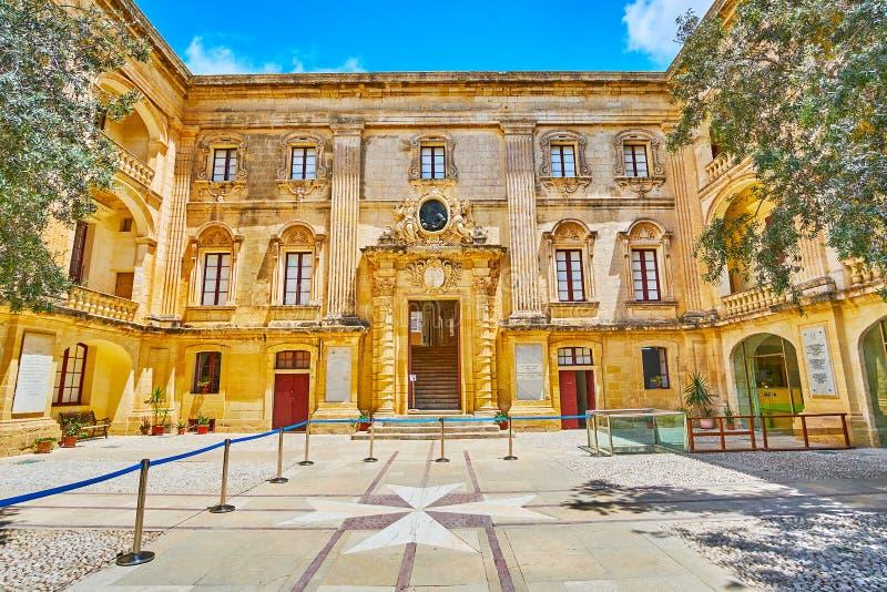 Palazzo di Vilhena, Mdina, Malta fotografia stock libera da diritti