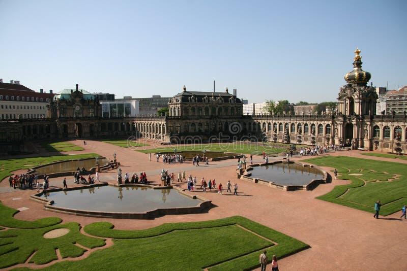 Palazzo di Zwinger a Dresda immagini stock
