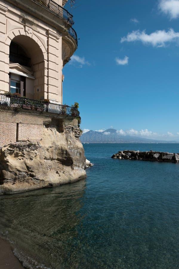 Palazzo Donn 'Anna een Posillipo Napoli stock fotografie
