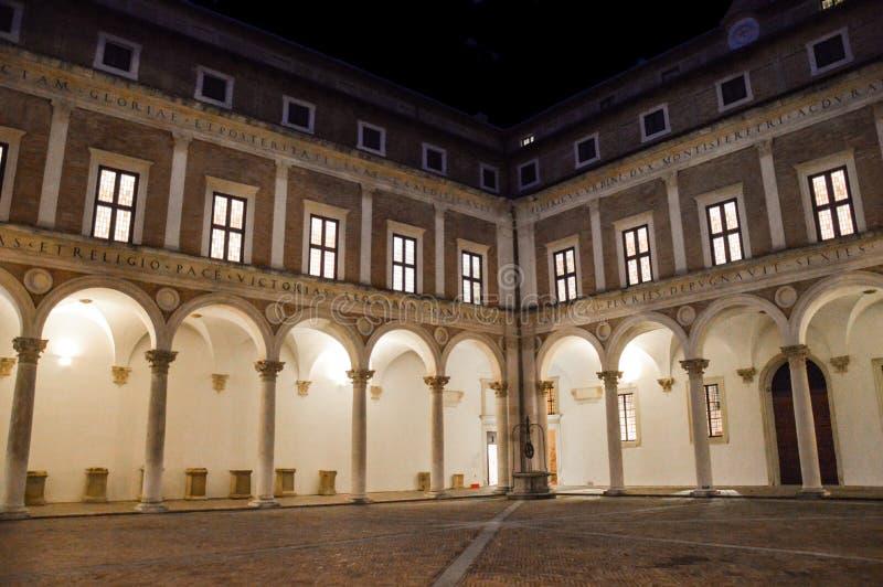 Palazzo Ducale, Ούρμπινο, Ιταλία στοκ φωτογραφία με δικαίωμα ελεύθερης χρήσης