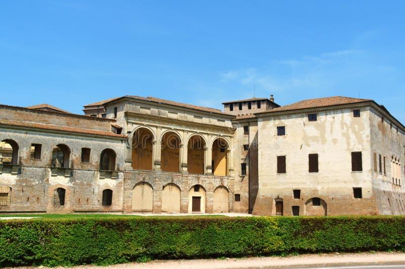 Palazzo Ducale (hertiglig slott) i Mantua, Italien arkivfoto