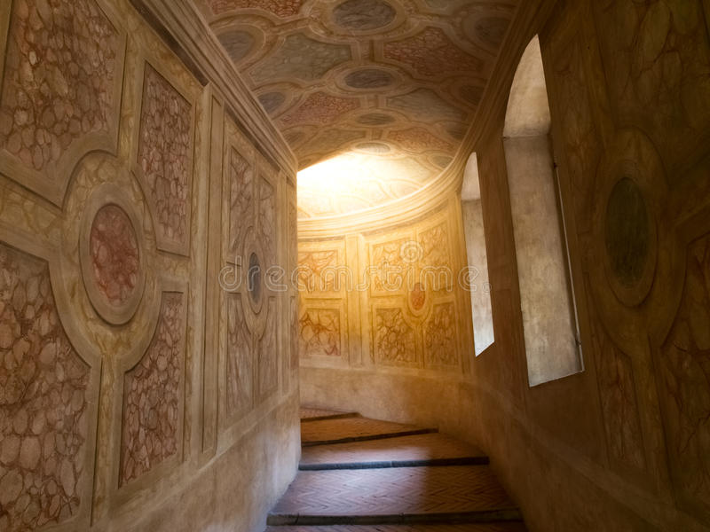 Palazzo Ducale i Mantua royaltyfria foton