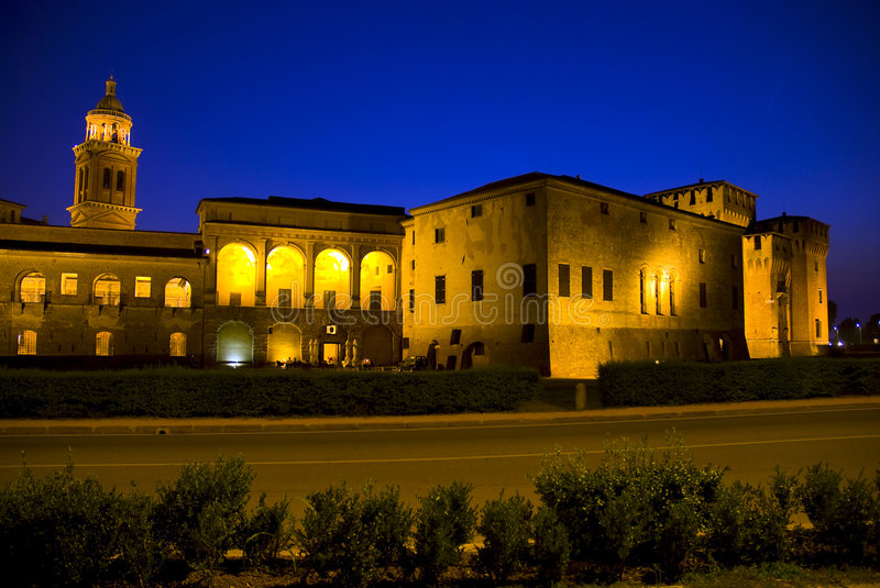 Palazzo Ducale in Mantova stock images