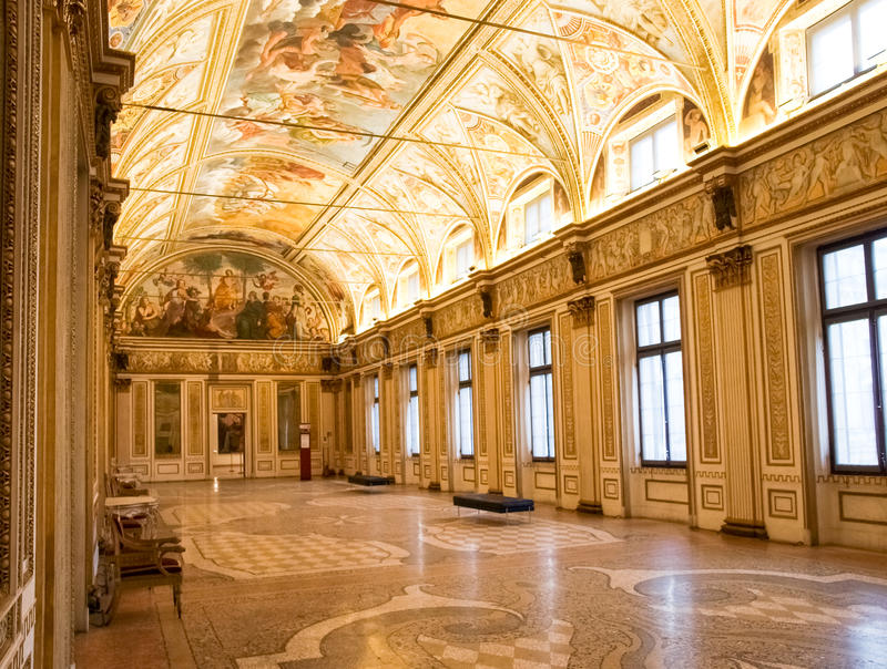 Palazzo Ducale in Mantua stock foto's