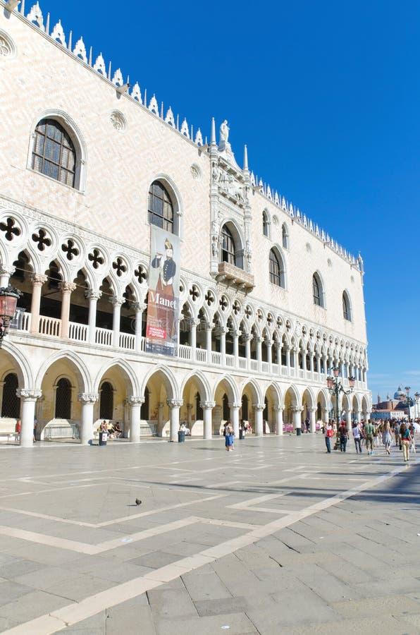 Palazzo Ducale op agoust 26, 2013 in Venetië, stock fotografie