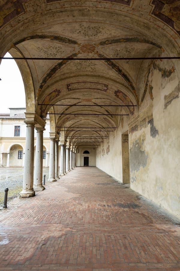 Palazzo Ducale sulla piazza Castello a Mantova fotografia stock libera da diritti