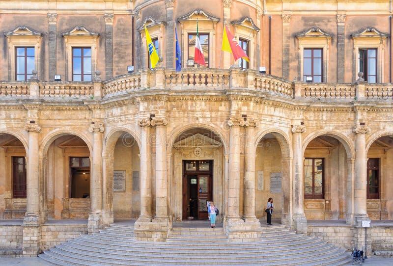 Palazzo Ducezio - Noto imágenes de archivo libres de regalías