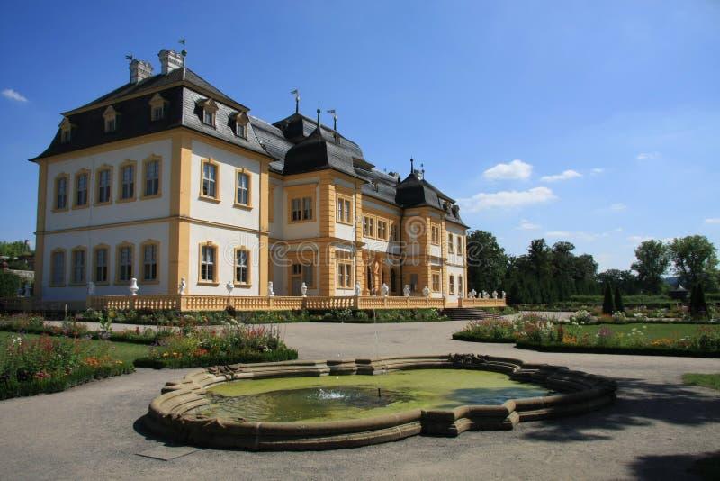 Palazzo e giardino Veitshoechheim della corte immagini stock libere da diritti