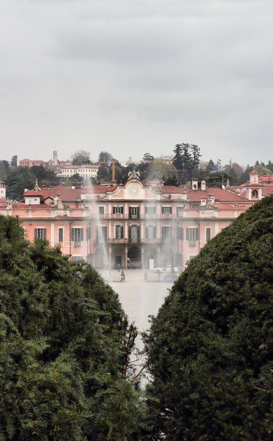 Palazzo Estense, hôtel de ville de Varèse images stock
