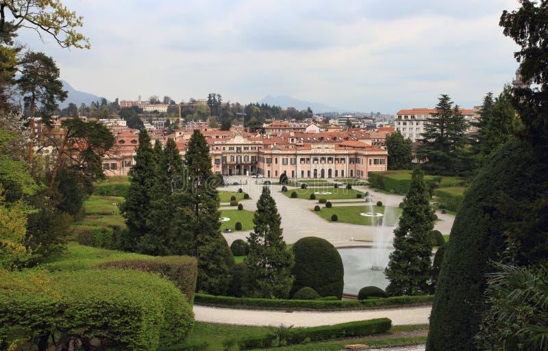 Palazzo Estense, hôtel de ville de Varèse image stock