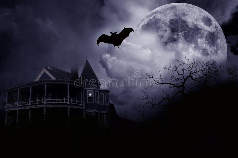 Palazzo frequentato di Halloween immagine stock libera da diritti