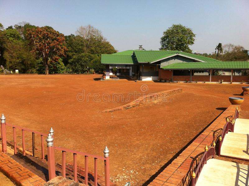 Palazzo grigio della regina Rambhaibarni fotografia stock libera da diritti