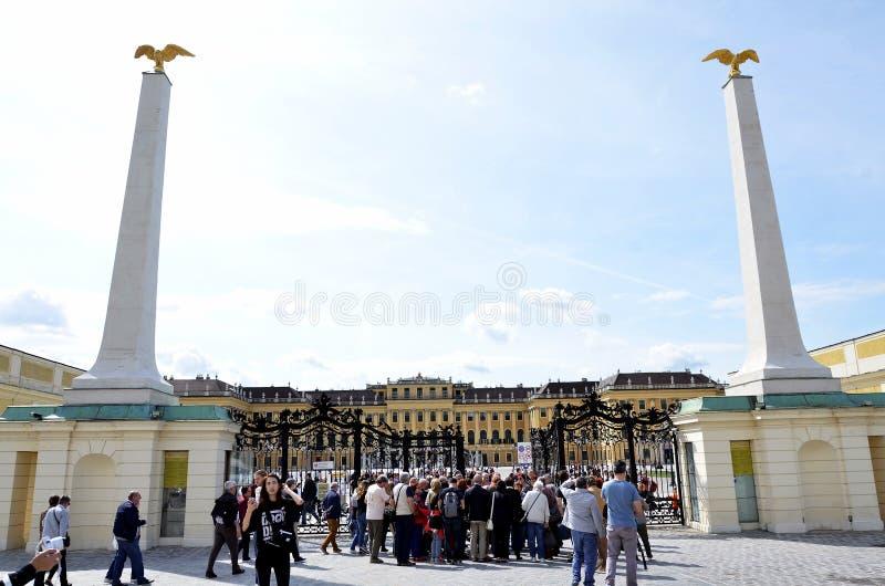 Palazzo imperiale nella città di Vienna immagini stock libere da diritti