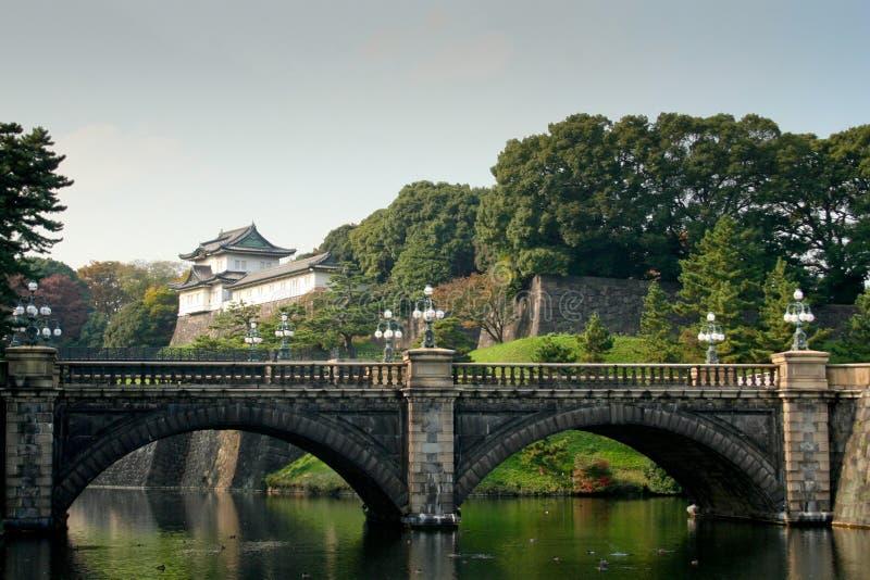Palazzo imperiale - Tokyo, vista sul ponticello fotografia stock