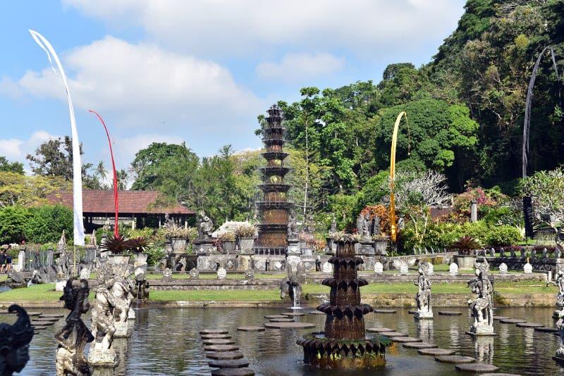 Palazzo indù Tirta Gangga, isola di Bali, Indonesia dell'acqua di balinese fotografia stock