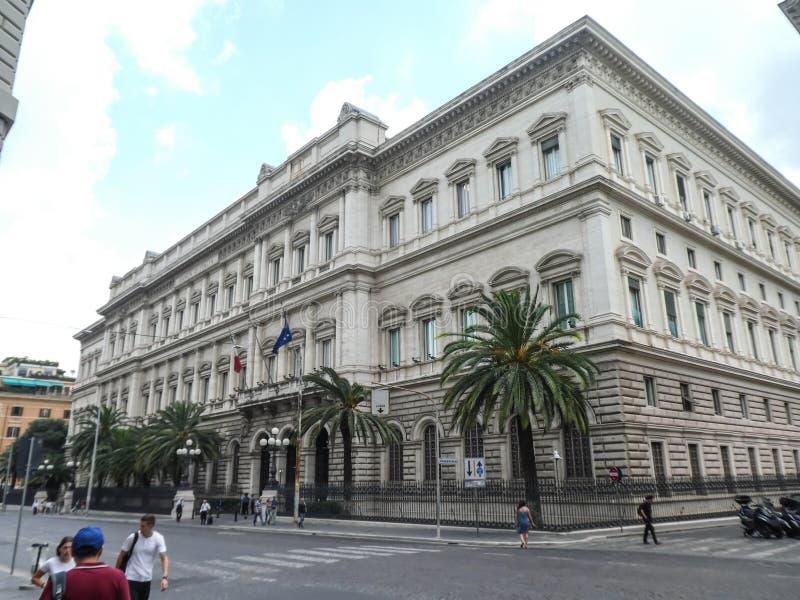 Palazzo Koch in Rome, hoofdkantoor van Banca D ?Itali? royalty-vrije stock afbeelding