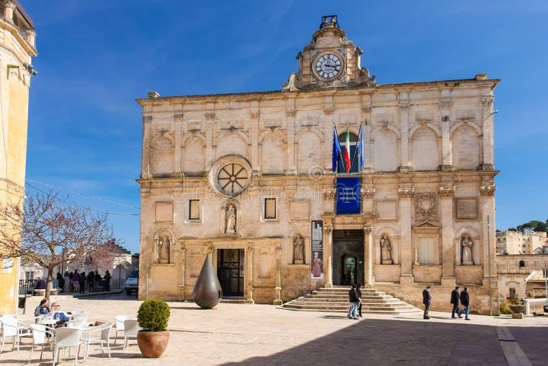 National Museum of Modern and Medieval Art. Matera. Basilicata. Apulia or Puglia. Italy royalty free stock photos