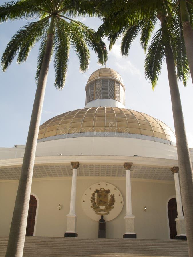 Palazzo legislativo federale dell'assemblea nazionale venezuelana, Caracas immagini stock libere da diritti
