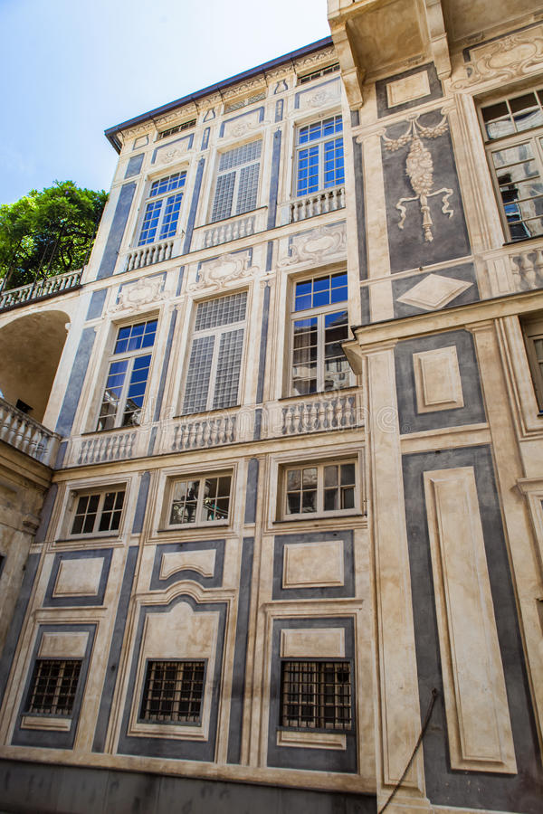 Palazzo Lomellino em Genoa foto de stock