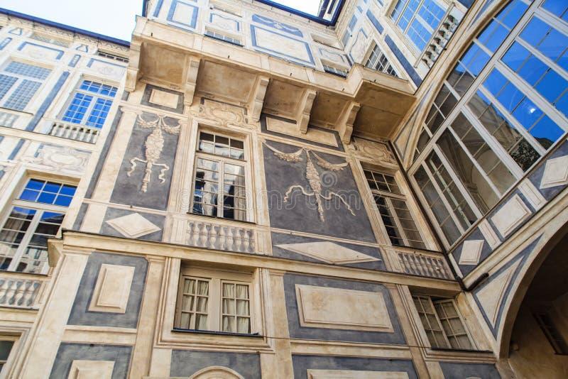Palazzo Lomellino in Genua lizenzfreie stockfotografie