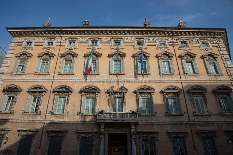 Palazzo Madama is een historisch gebouw in Rome, zetel van Senat stock afbeeldingen