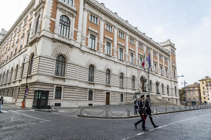 Palazzo Madama en Roma el senado imagen de archivo libre de regalías