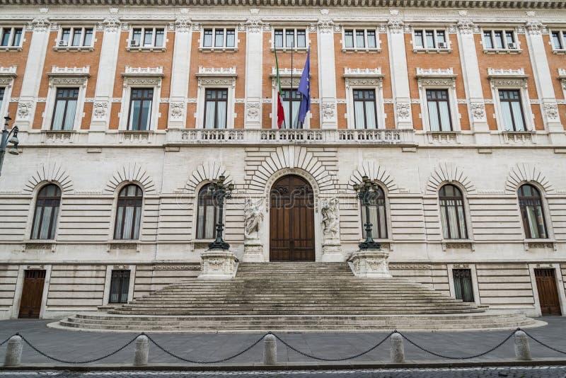 Palazzo Madama en Roma, el senado imagen de archivo