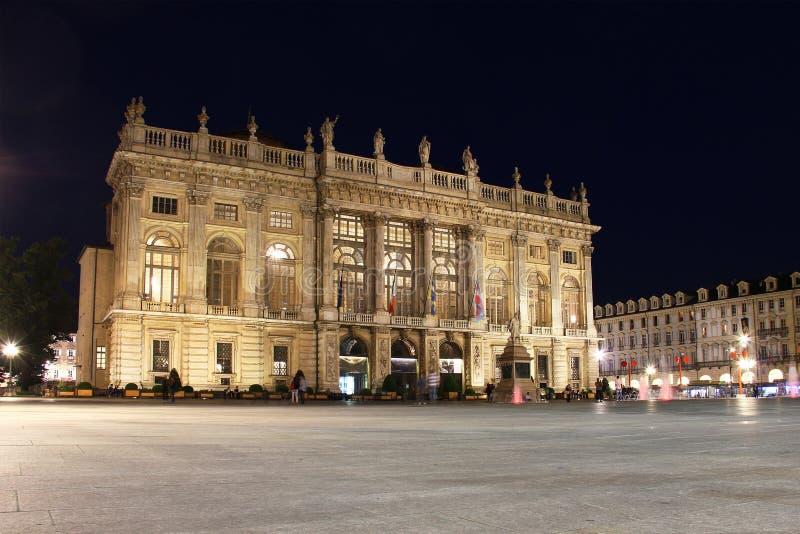 Palazzo Madama, praça Castello, Turin, Itália imagens de stock royalty free