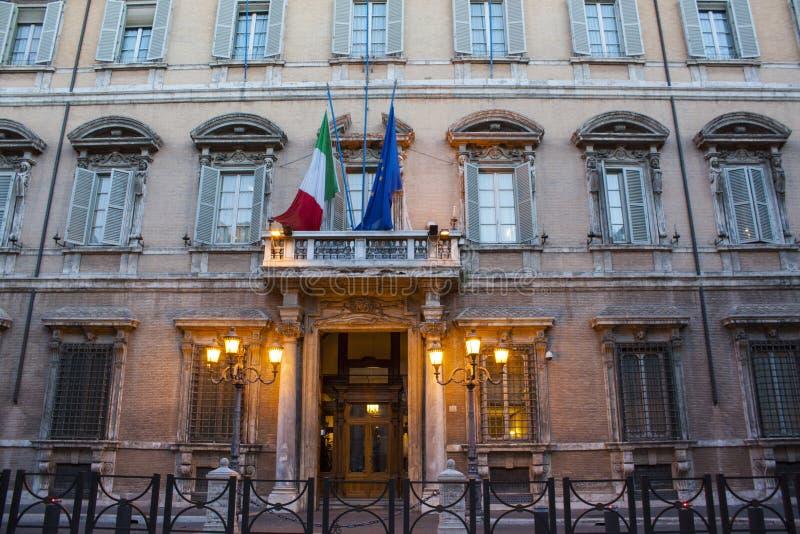 Palazzo Madama - Rome. The facade of Palazzo Madama, the seat of the Senate of the Italian Republic, Rome royalty free stock photos