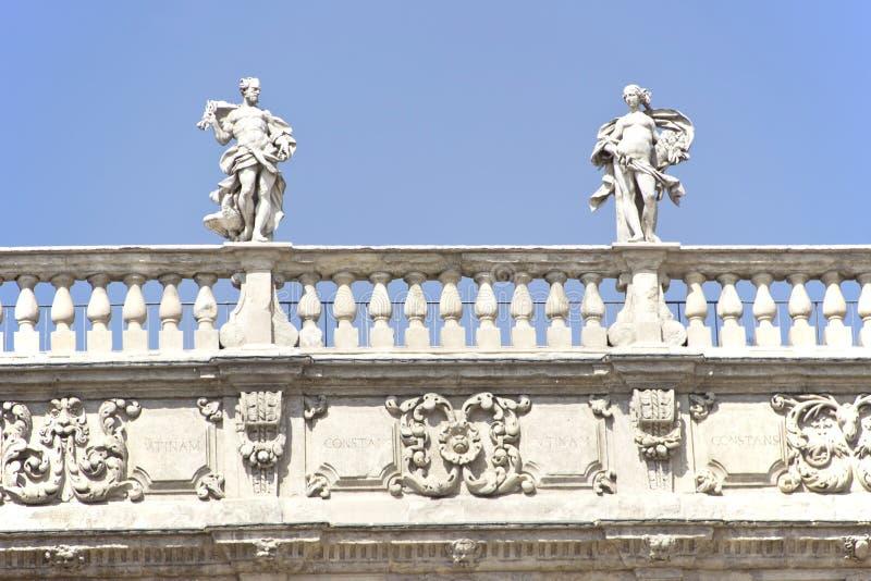 Palazzo Maffei stock photos