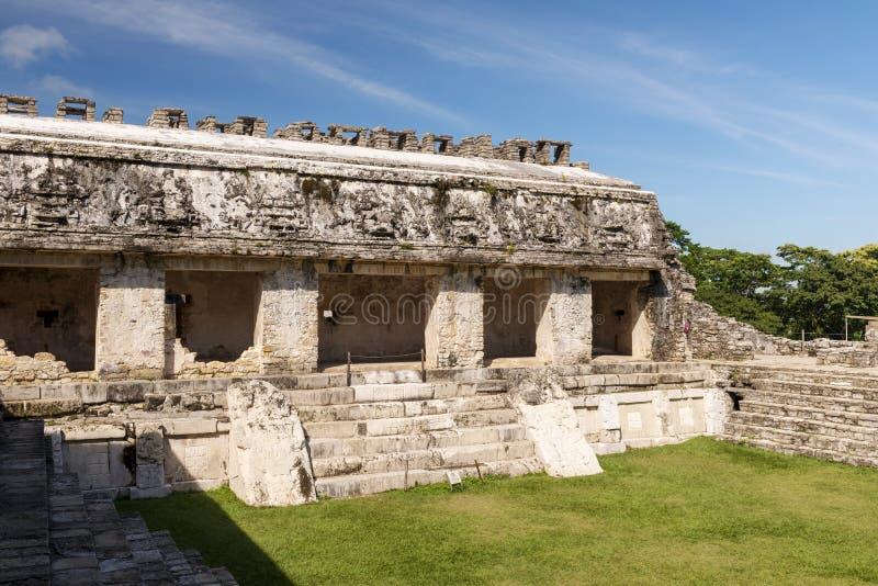 Palazzo maya antico Palenque Messico fotografie stock libere da diritti