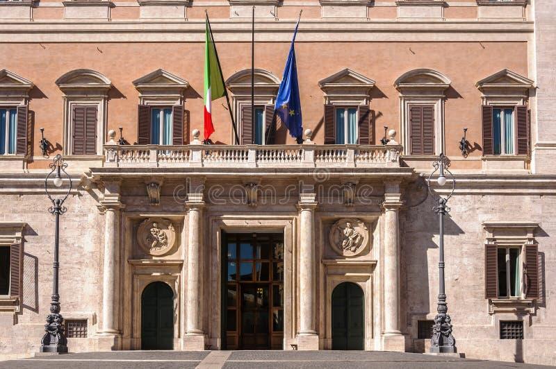 Palazzo Montecitorio. Rome, Italy. Palazzo Montecitorio, the seat of the Italian Chamber of Deputies stock images