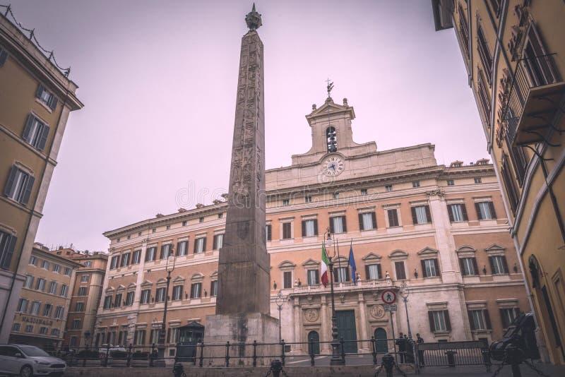 Palazzo Montecitorio in Rome royalty free stock image