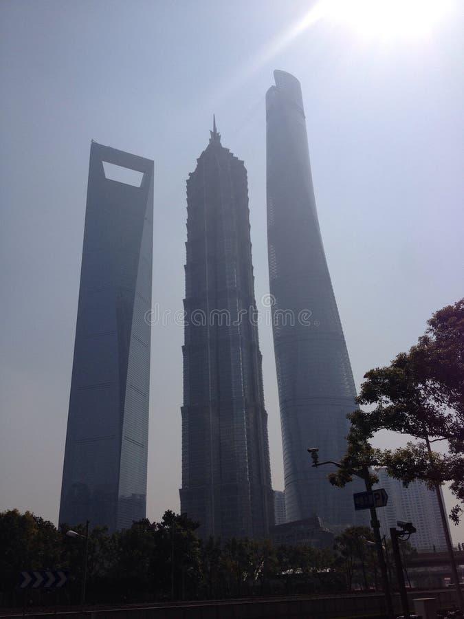 Palazzo multipiano di Shanghai immagine stock libera da diritti