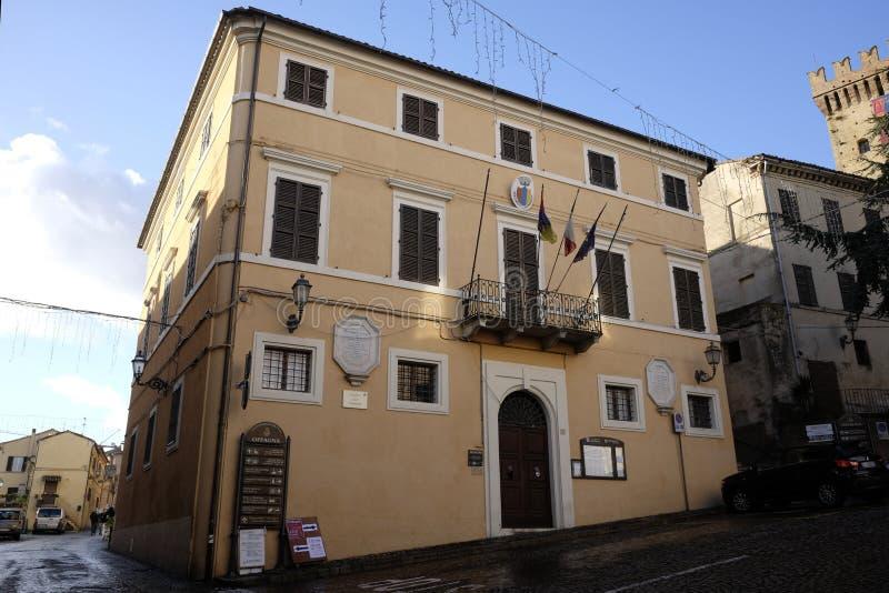 Palazzo municipale del offagna fotografia stock