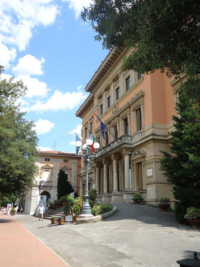 Palazzo Municipio Montecatini Terme, Włochy zdjęcia royalty free