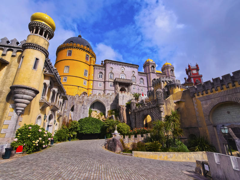 Palazzo nazionale di Pena in Sintra fotografia stock