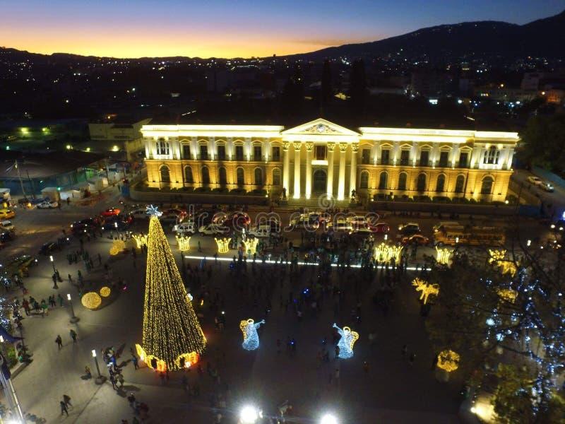 Palazzo nazionale El Salvador fotografia stock