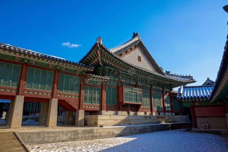 Palazzo nella città di Seoul, Corea del Sud fotografia stock libera da diritti