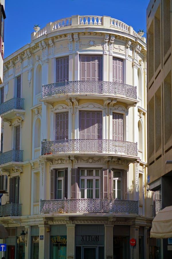 Palazzo neoclassico nel distretto di Plaka fotografia stock