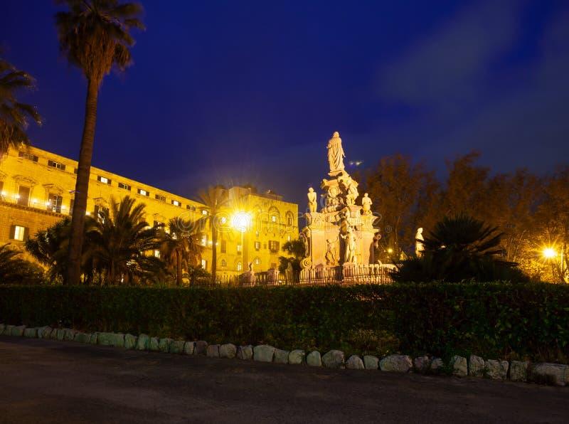 Palazzo Norman o Palazzo Reale di Palermo fotografie stock libere da diritti