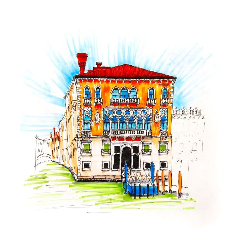 Palazzo op Grand Canal in Venetië, Italië royalty-vrije illustratie
