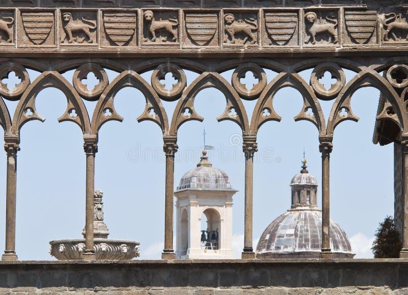 Palazzo papale. Viterbo. Il Lazio. L'Italia. fotografia stock