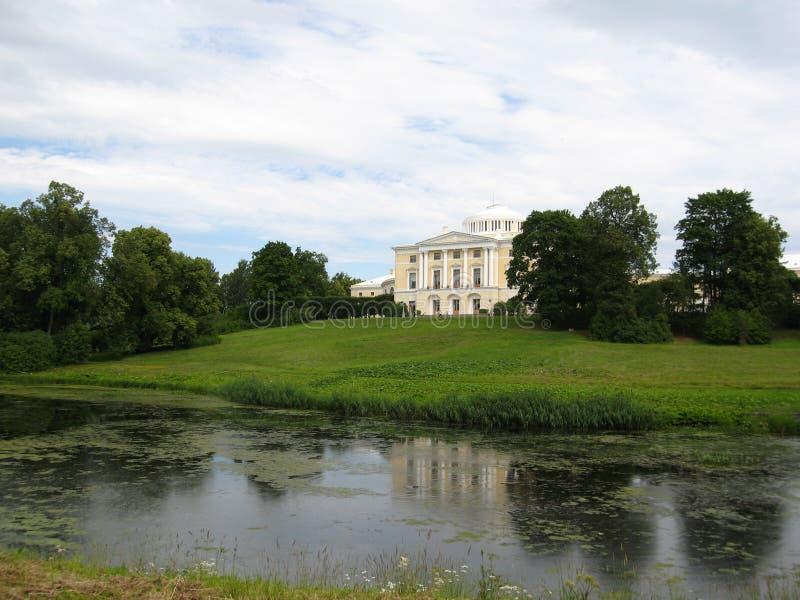 Palazzo in Pavlovsk, Russia. fotografia stock libera da diritti