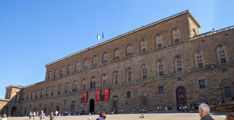 Palazzo Pitti在佛罗伦萨 库存图片