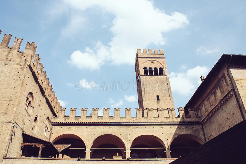 Palazzo Ponowny Enzo, Bologna zdjęcia stock