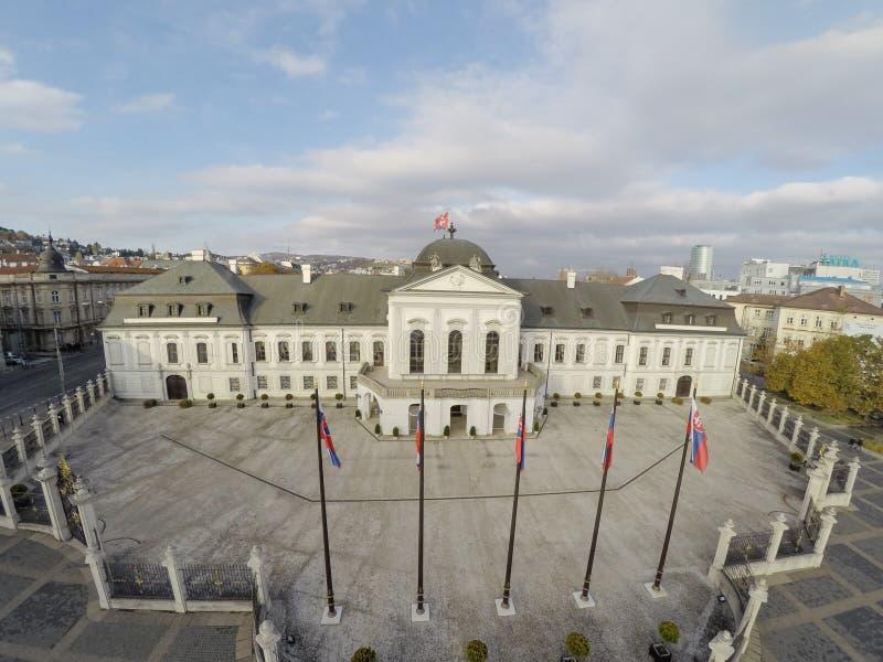 Palazzo presidenziale a Bratislava fotografia stock