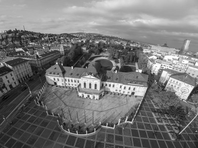 Palazzo presidenziale a Bratislava fotografie stock libere da diritti