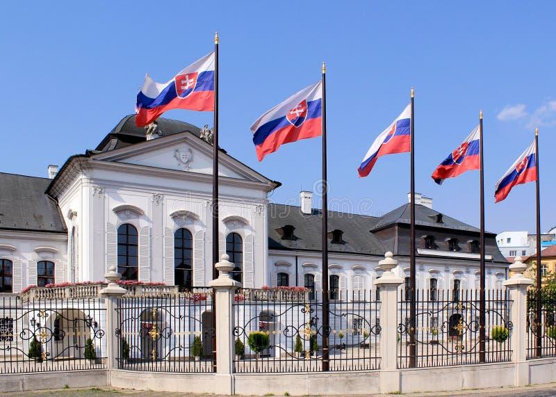 Palazzo presidenziale di Grassalkovich. Bratislava immagine stock libera da diritti
