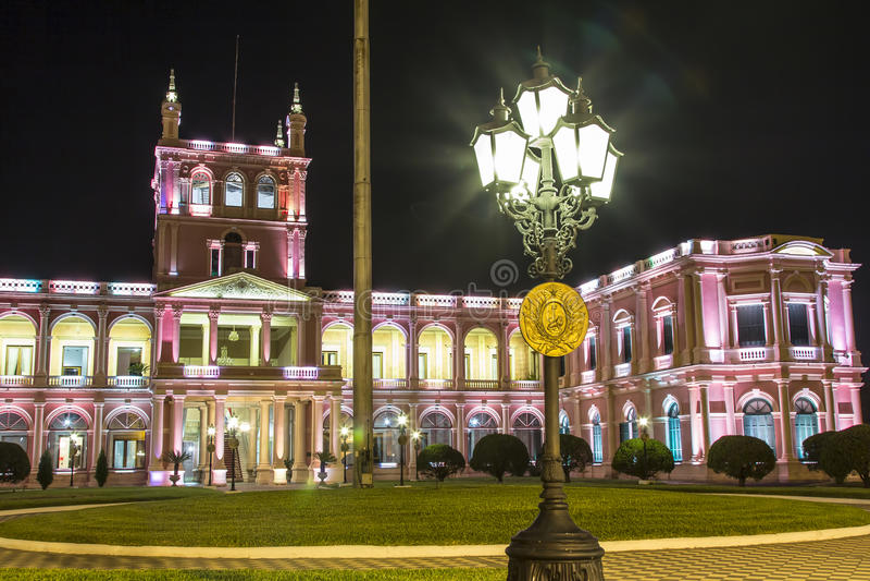 Palazzo presidenziale di Lopez Capitale di Asuncion, Paraguay fotografia stock libera da diritti
